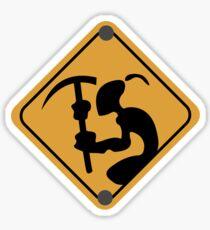 Mudokon Mining Sign - Oddworld Sticker