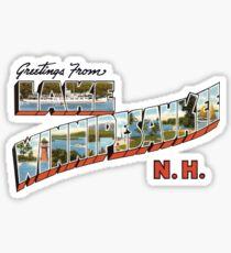 Greetings from Lake Winnipesaukee, New Hampshire Sticker