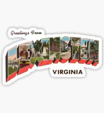Greetings from Lexington, Virginia Sticker