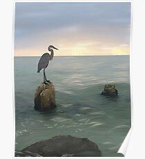 Ocean Sunset Poster