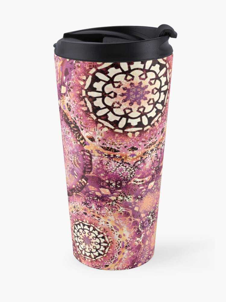 Alternate view of Mango Marina Mandalas Travel Mug