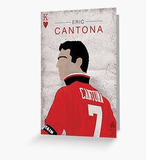 Eric Cantona - Manchester United Greeting Card