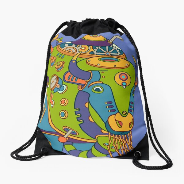 Bison, from the AlphaPod collection Drawstring Bag
