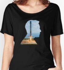 Elon Musk Rocket Landing Silhouette Women's Relaxed Fit T-Shirt