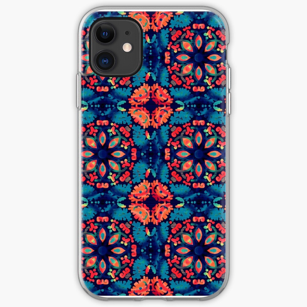 Orange and Blue Tile iPhone Case & Cover