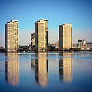 Detroit Skyline version 2 by Barry W  King