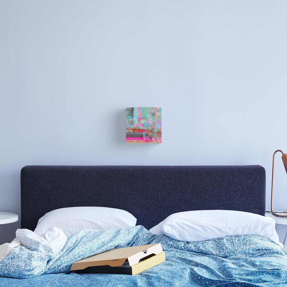 Insta Glitch Pastel Canvas Print