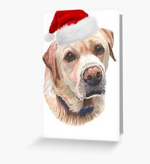 Christmas Yellow Labrador Greeting Card