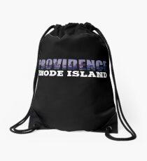 Providence, Rhode Island Skyline Drawstring Bag