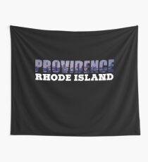 Providence, Rhode Island Skyline Wall Tapestry