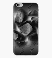 BLACK PUZZLE WIND iPhone Case