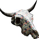 Relaxing Pattern Cow Skull Design v.1 by GLOBEXIT