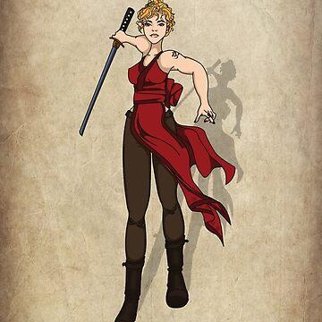 The Scarlet Samurai by redrockit