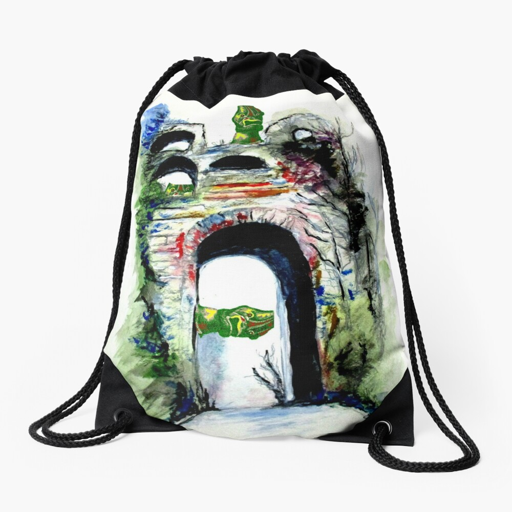 Arco Felice With Dragons Drawstring Bag