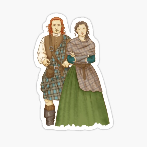 Jamie and Claire Sticker