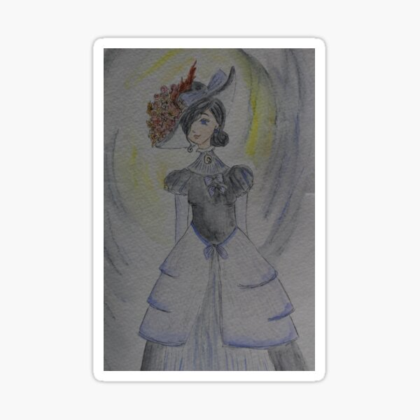 Victorian Lady Sticker