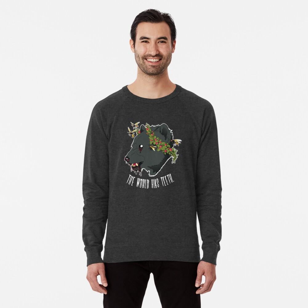 The World Has Teeth Lightweight Sweatshirt