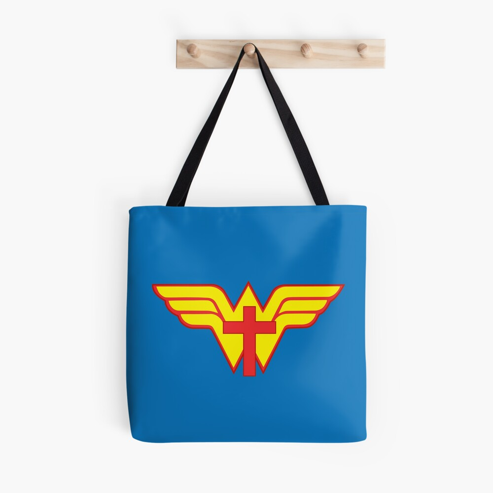 JESUS IS MY SUPERHERO Tote Bag