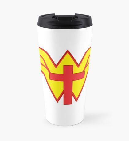 JESUS IS MY SUPERHERO Travel Mug