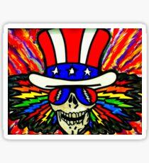 Uncle Sam Grateful Dead Fan Art Sticker