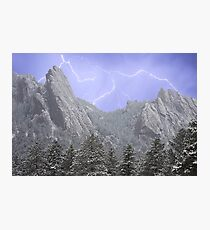 Flatiron Lightning Photographic Print