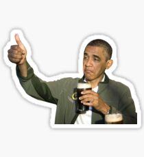 Barack Obama Bottoms Up Sticker