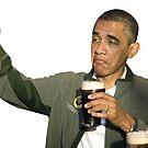 Barack Obama Bottoms Up by zlapr