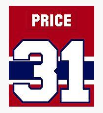 Carey Price #31 - red jersey Photographic Print