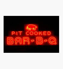 pit cooked Photographic Print