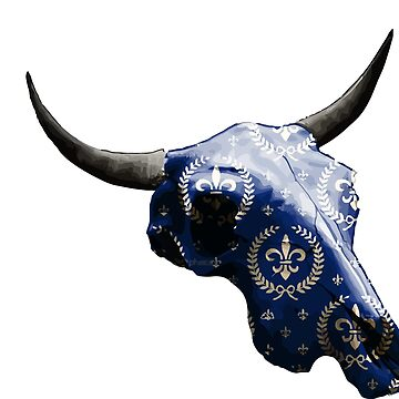 Noble Symbol on Blue Cow Skull Design v.4  by GLOBEXIT