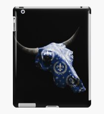 Noble Symbol on Blue Cow Skull Design v.4  iPad Case/Skin