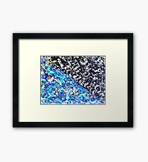 Colorful Abstract Painting Original Art Titled: No. 9 Framed Print