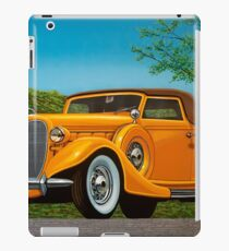 Lincoln K Convertible 1935 Painting iPad Case/Skin