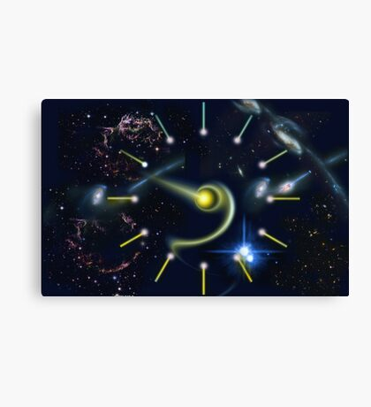 The Galactic Clock  Canvas Print