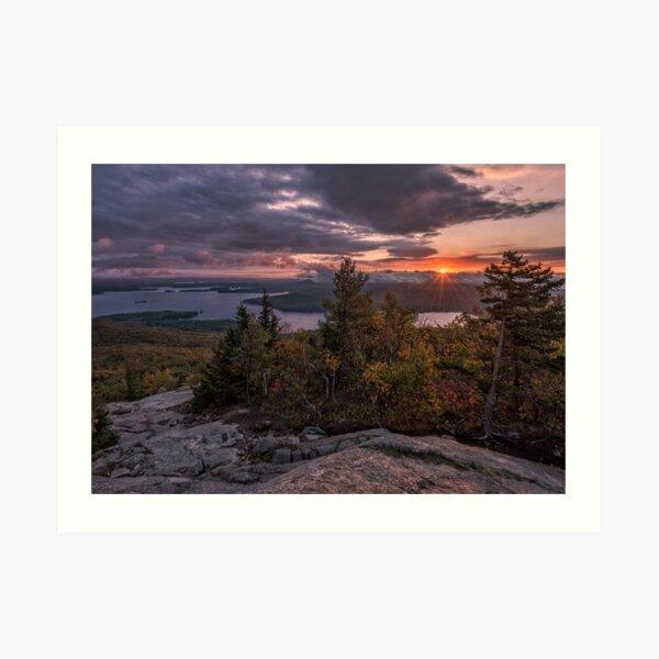 Sunrise on Mount Major, New Hampshire  Art Print