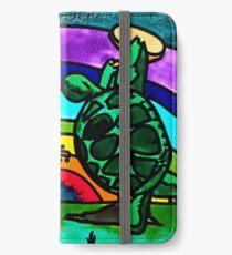 Terrapins Dancing Under a Rainbow Grateful Dead Fan Art iPhone Wallet