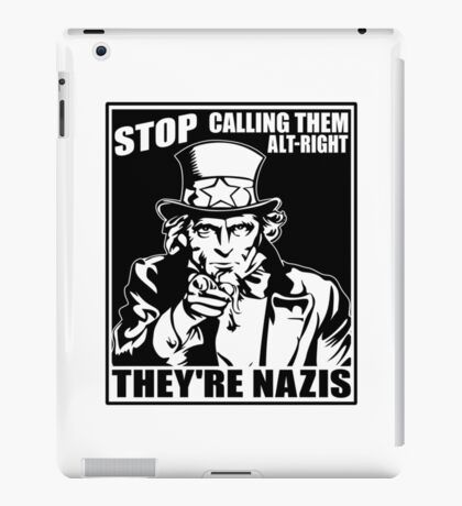 Anti Alt Right iPad Case/Skin