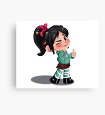 Vanellope - Top Shelf! Canvas Print