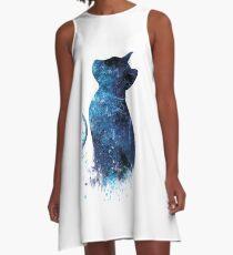 Blue Cat A-Line Dress