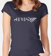 Heresy White Warhammer 40000 Inspired Women's Fitted Scoop T-Shirt
