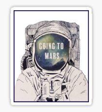 J+TL Going to Mars Sticker