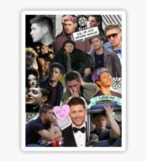 Jensen Ackles - Supernatural, Dean Winchester Collage Sticker