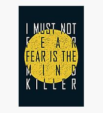 Dune - The Litany Against Fear (White) Photographic Print