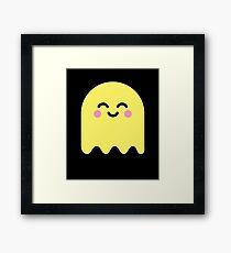 Cute Ghost Yellow Framed Print