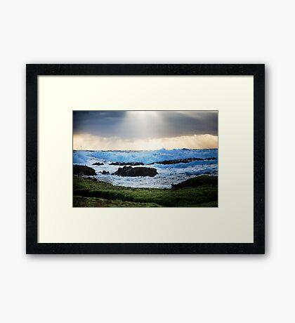 Sprays Point,Mornington Peninsula Framed Print