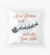 Frohe Weihnachten an alle ... an alle eine gute Nacht! Dekokissen