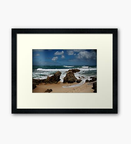 Spray Point - Mornington Peninsula  Framed Print