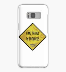 Time Travel Caution Samsung Galaxy Case/Skin