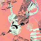 Musical Memories 5 Faux Chine Colle Monoprint Var 1 by Heatherian
