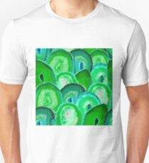 Geode Slices No. 2 in Electric Green  T-Shirt